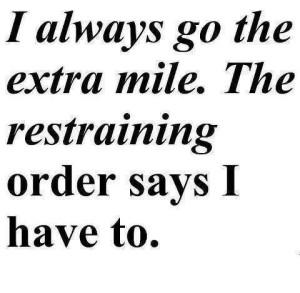 restrining order