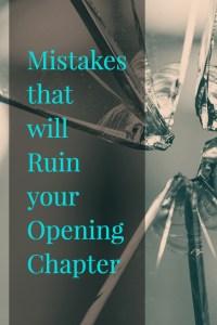 Opening Chapter Mistakes-www.themanuscriptshredder.com