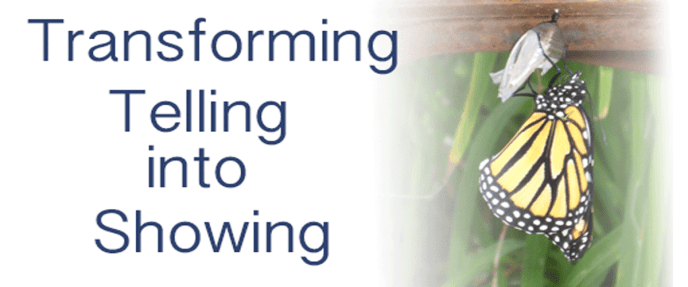 Transforming telling into showing in writing