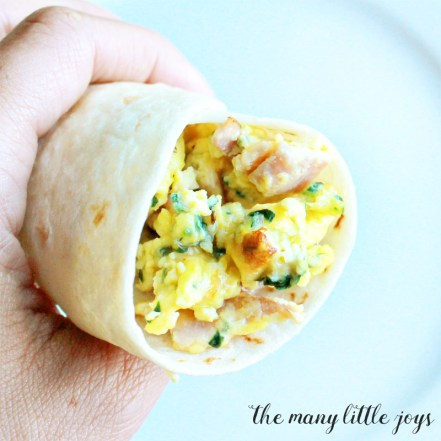 These simple breakfast burritos make for a protein & veggie packed breakfast, or an awesome 10 minute dinner for those nights that you just don't have the energy to cook.
