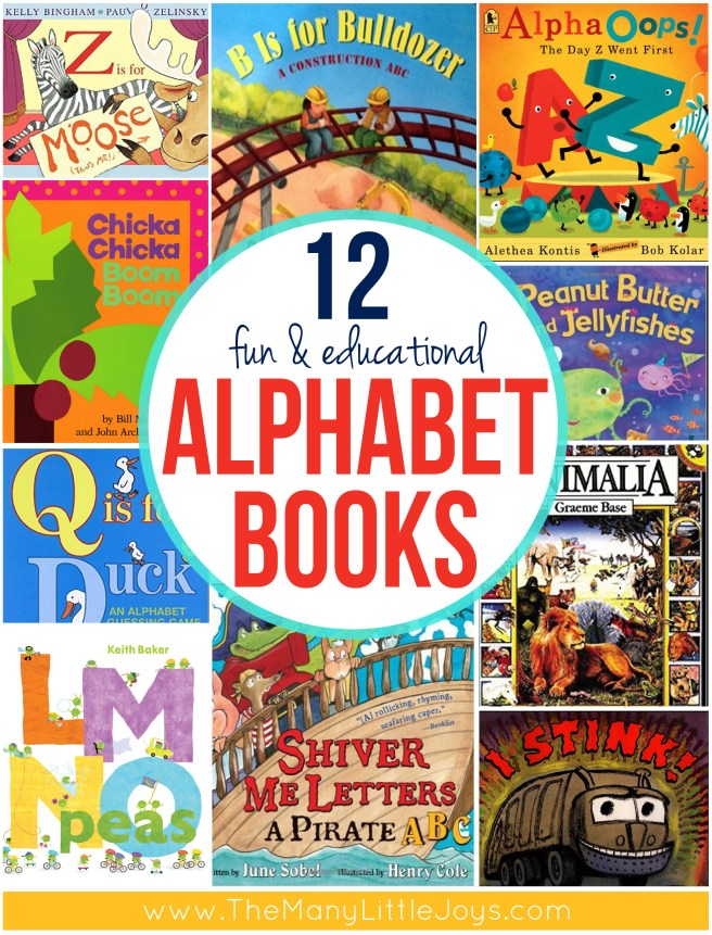 Learning the ABCs is essential for preschoolers. Here are 12 of my favorite alphabet books for kids that will keep you laughing and playing while learning.