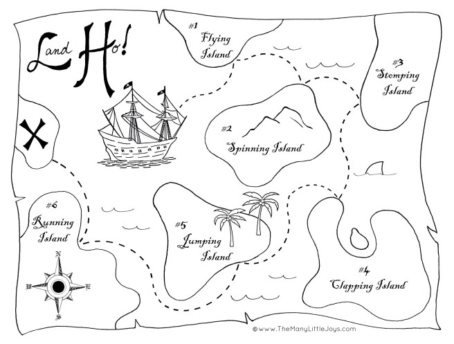 Land Ho Pirate Game Map Small