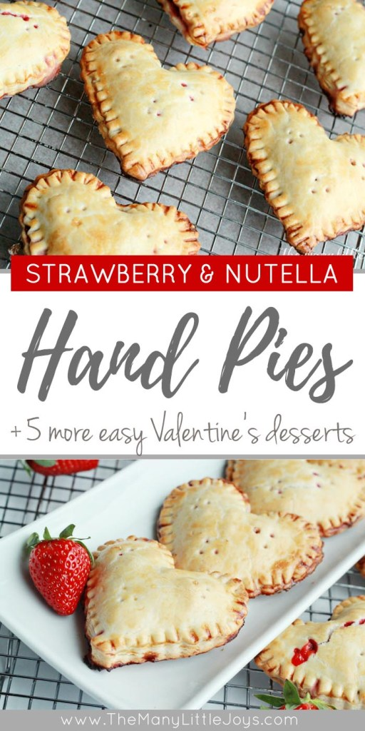 Need an easy Valentine's dessert that is sure to wow your sweetheart (and make your kids smile)? These strawberry Nutella heart-shaped hand pies come together quickly and taste decadent. Enjoy!