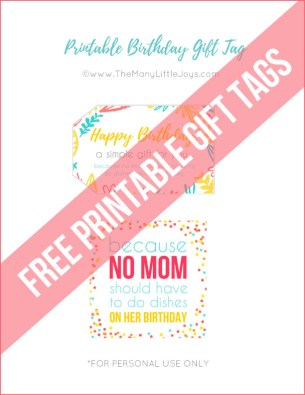 """Need a quick last-minute birthday gift for a mom friend? This simple """"meal with no dishes"""" kit is a perfect way to say happy birthday to a mom around you who just needs a little break for her birthday. And...really...don't we all?"""