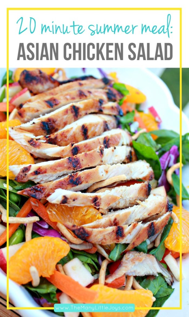 Hot summer days need quick and easy meals that still pack a flavorful punch. This 20-minute Asian grilled chicken salad is perfect for those hot weeknights when you don't want to turn on the stove.