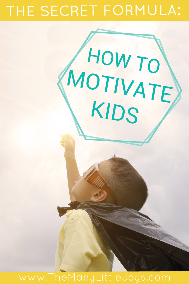 If you ever have a hard time convincing your children to do something (or anything), this formula will teach you how to motivate kids in a positive way.