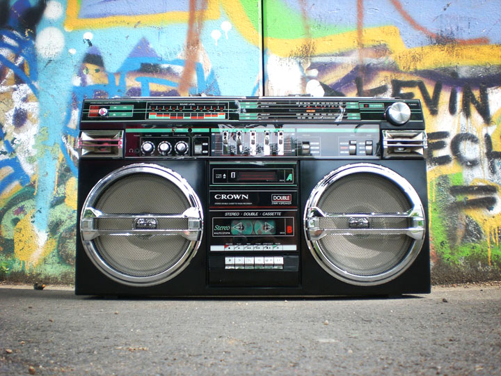 old school boom box