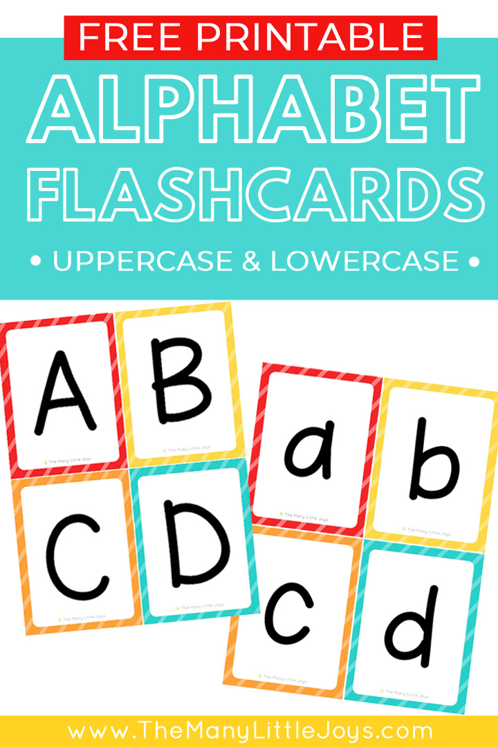 Make learning the ABCs fun with these free printable alphabet flashcards. This set includes separate cards for uppercase and lowercase letters, giving you endless possibilities for how to learn with your child.