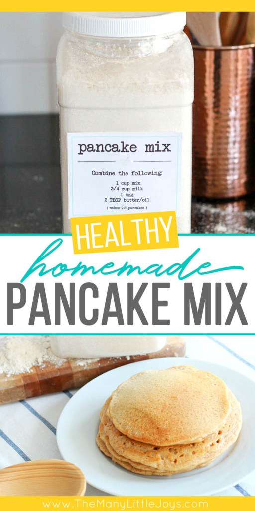 This handy homemade pancake mix is a quick-to-make pantry staple...perfect for busy moms who want a simple way to get a hot breakfast on the table in under ten minutes.
