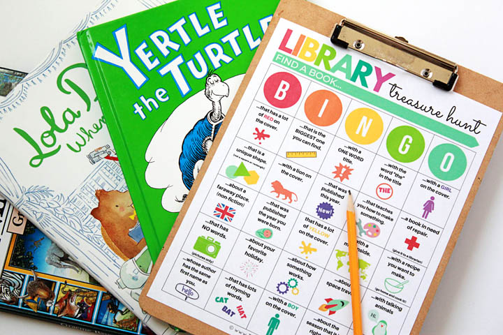 Turn a normal library trip into a treasure hunt adventure your kids will love using this free printable library scavenger hunt BINGO game.