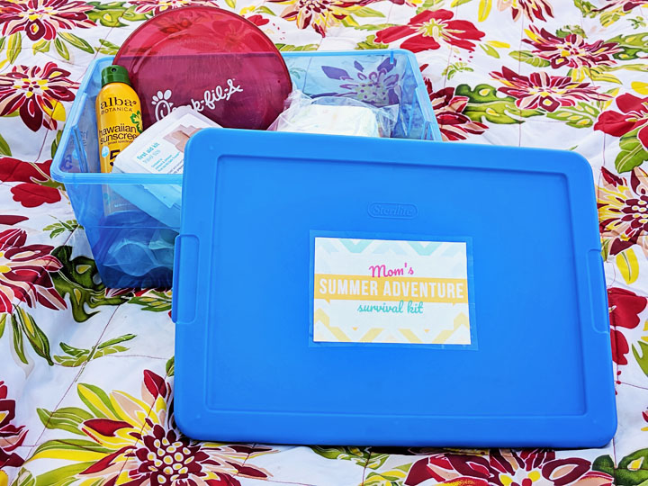 "You've got a summer bucket list, but are you REALLY ready for summer? Be prepared for whatever summer brings by creating a simple ""summer adventure kit""...nine essential things every parent should keep in the car during summertime."