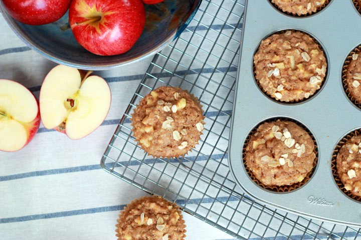 These healthy apple oatmeal muffins are the perfect fall breakfast recipe or after-school snack. Grab your kiddos, and whip up a batch in the kitchen today!
