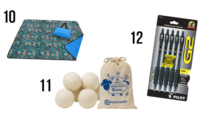 These are a few of my favorite things! This gift guide is filled with happy treasures for any budget that would make great Christmas gifts or a fabulous treat for yourself! Miscellaneous: picnic blanket, wool dyer balls, Pilot G2 pens