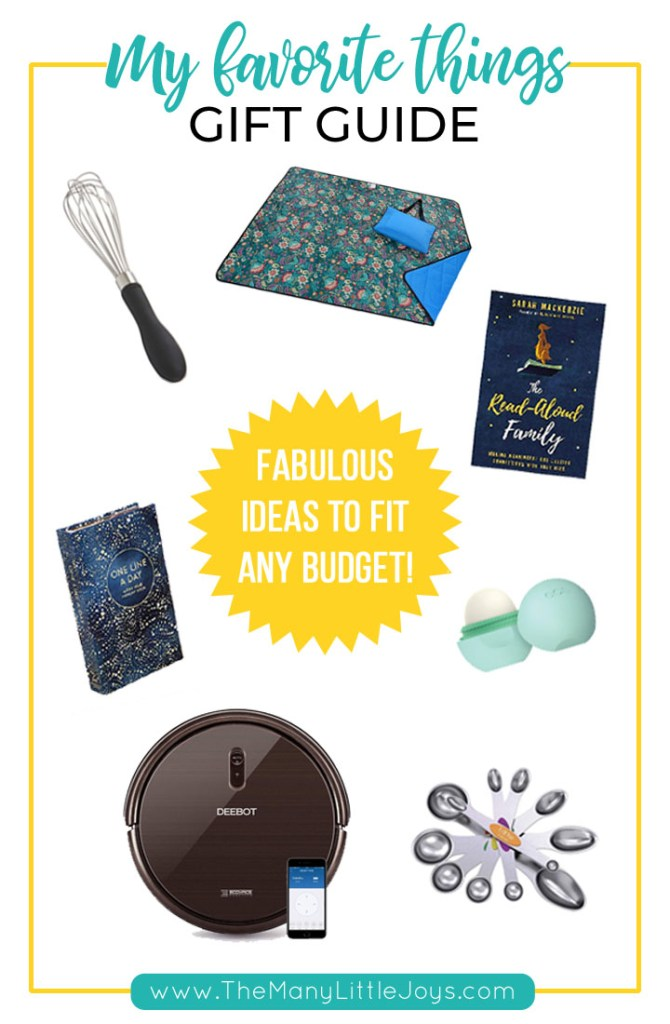 These are a few of my favorite things! This gift guide is filled with happy treasures for any budget that would make great Christmas gifts or a fabulous treat for yourself!