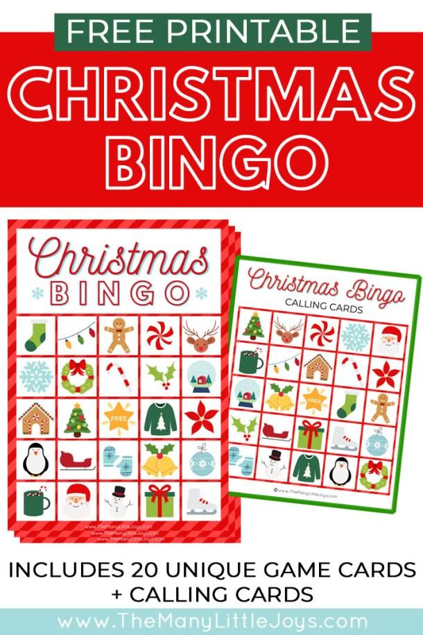 Christmas bingo free printable pdf free
