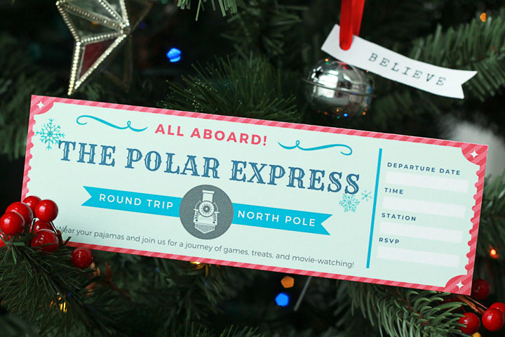 Want to make Christmas extra magical for your kids? Try hosting a Polar Express party! Here's everything you need (including free printables) to host a festive party without the stress!
