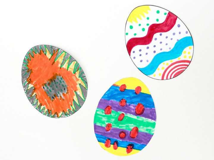examples of decorate-your-own Easter eggs