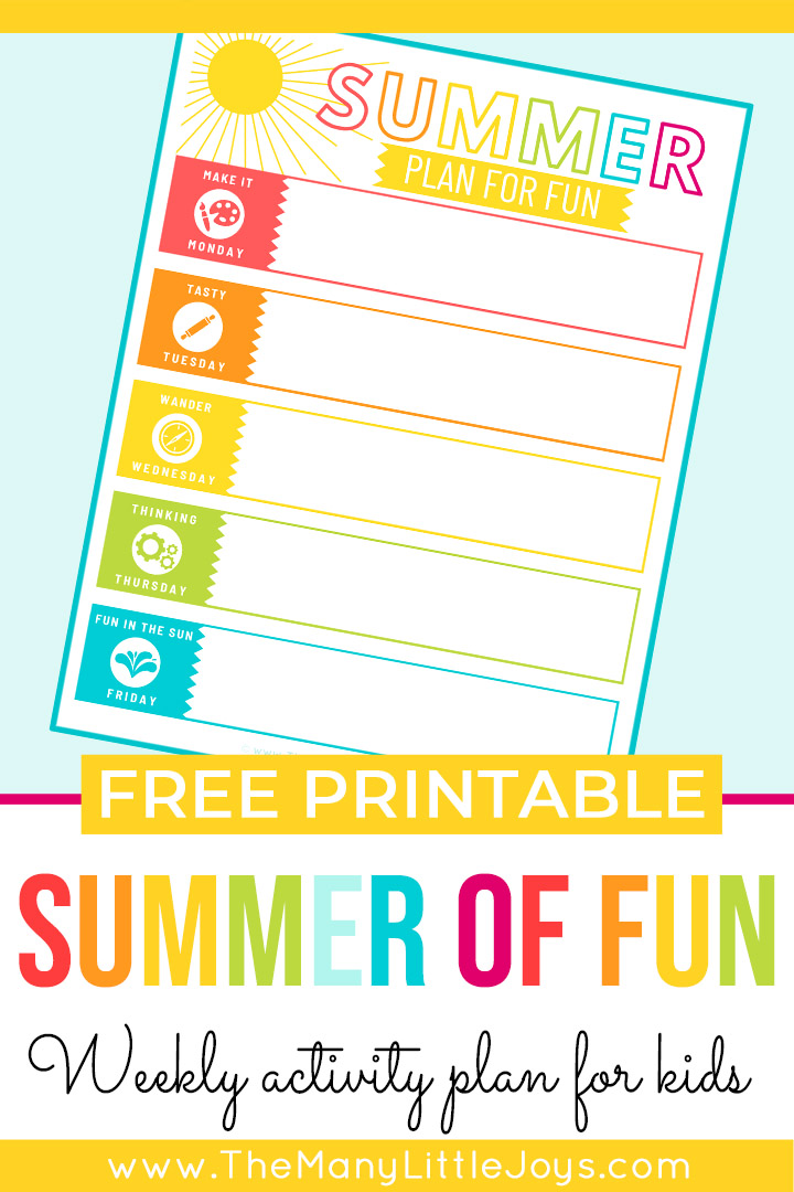 Summer is for making memories...but sometimes being the one to come up with the ideas can be exhausting. This free printable weekly calendar will help you create a simple, flexible summer plan without the stress. Ready...set...play!