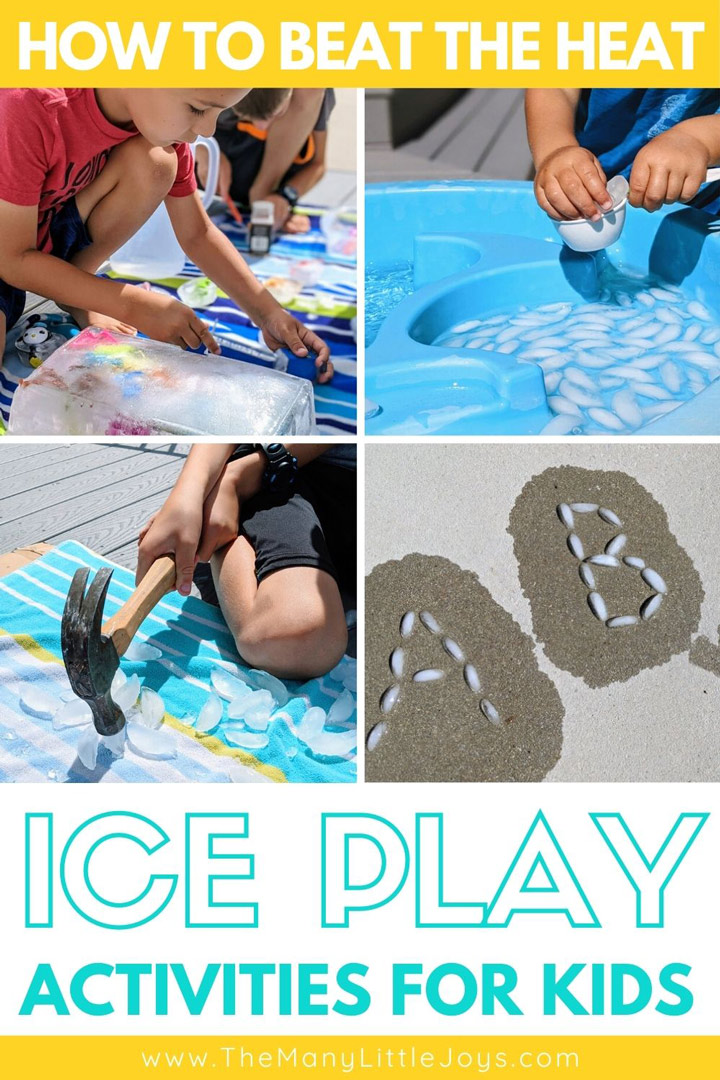 If you feel like you're melting in the summer heat, these ice play activities will cool things off while you learn and play with your kids!