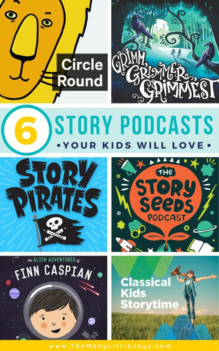 Whether you're looking for a way to keep peace in the car, fill the time until dinner, or calm down before bedtime, these story podcasts for kids will become your new favorite family pastime!