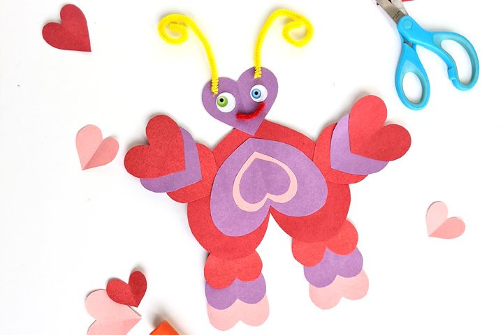 This easy Valentine's Day craft for kids is simple enough that even toddlers can do it independently but older kids will have fun with it, too!