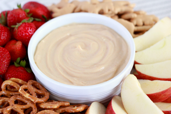 This three-ingredient peanut butter yogurt dip might be one of the easiest snacks you've ever made. With less than five-minutes of prep, you can have a healthy, delicious treat that will satisfy your kids' big appetites!