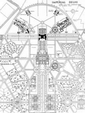 Imperial New Delhi Planned capital designed by Gerard Lutyens