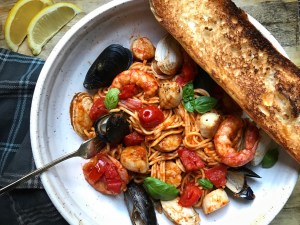 Fresh Homemade Pasta with Mussels, Scallops, Clams, and Shrimp