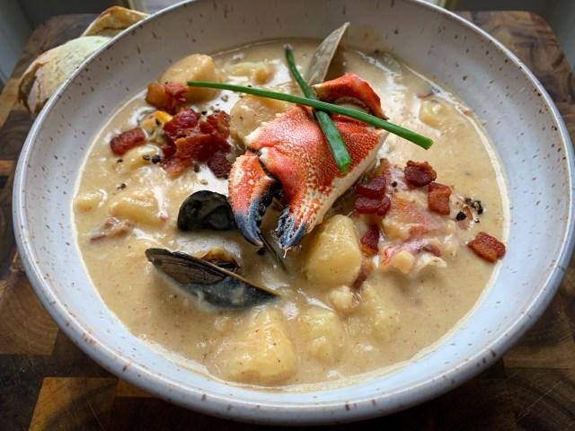 Rustic Crab Chowder Soup