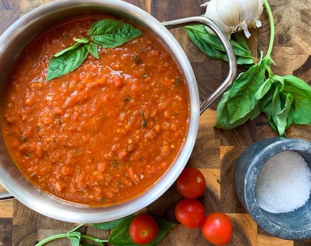 Fresh Tomato Homemade Marinara