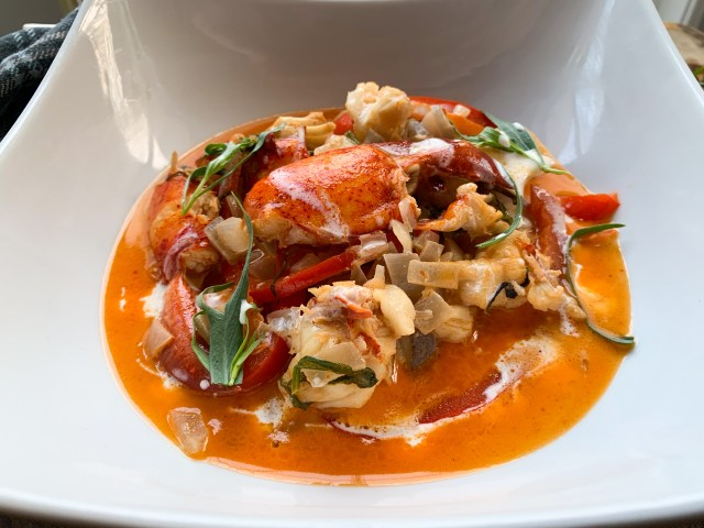 Lobster Flambe Close Up