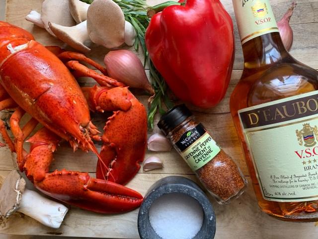 Lobster Flambe Ingredients