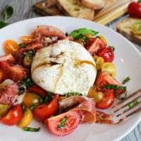 Burrata & Prosciutto Caprese Salad