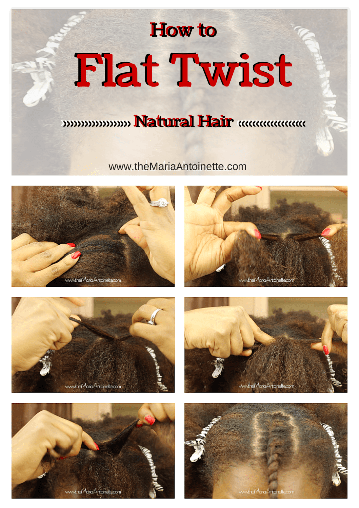 How To Flat Twist Natural Hair