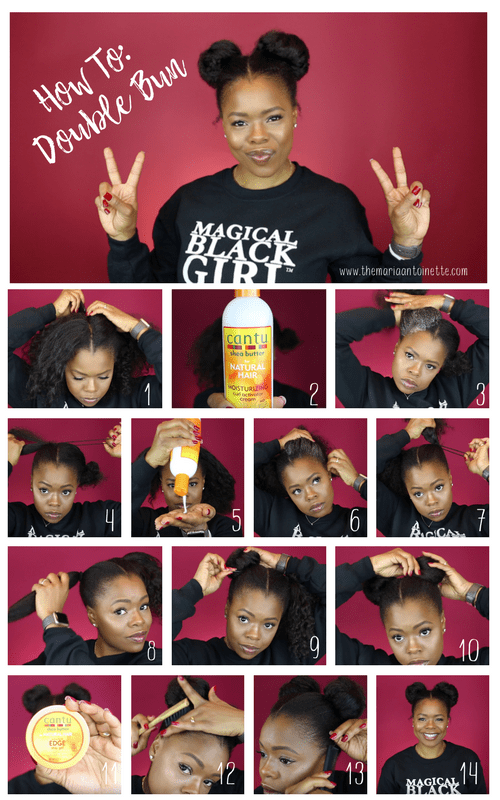 How To Double Bun For Natural Hair The Maria Antoinette