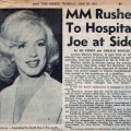 Newspaper article about marilyn s hospitalization marilyn is placed