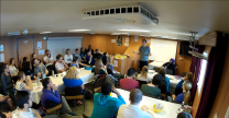 Lectures onboard were held in the canteen