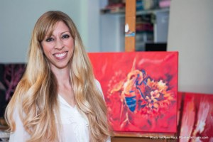 """Artist Melanie Oliva with """"Nashville After-image #1, a collaboration with photographer Scott Dickerson"""""""