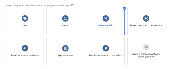 Google Campaign Goal