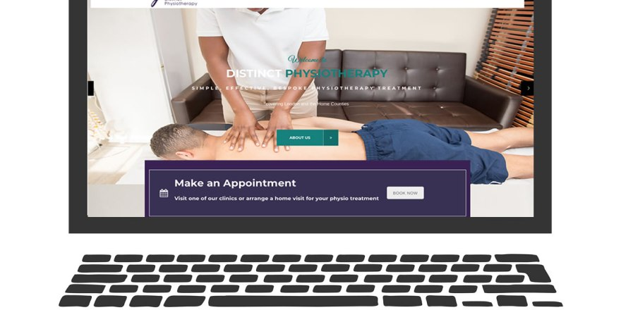 distinct physio website