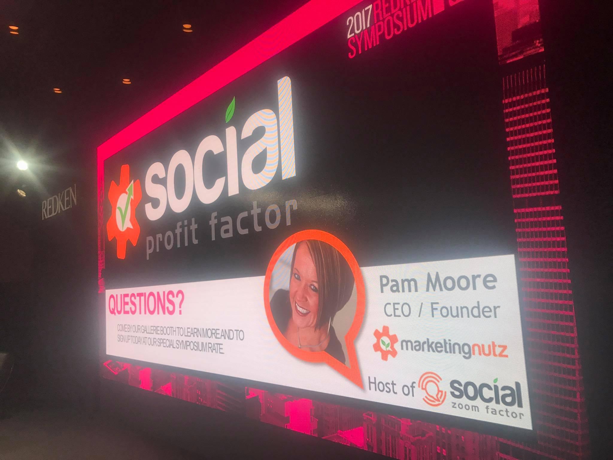 Marketing Nutz Social Profit Factor Redken Symposium