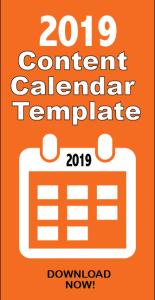 2019 Content Marketing Calendar Template