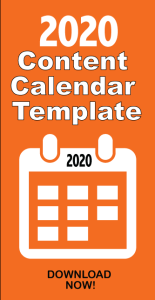 2020 Content Marketing Calendar Template Free Social Media Digital Marketing