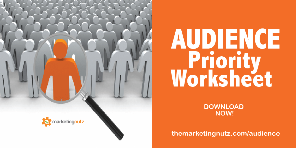audience first marketing prioritization worksheet