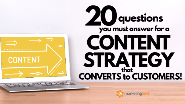 20 Questions You Must Answer Content Strategy that Generates Leads Sales
