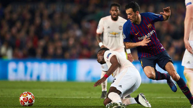 Busquets against Manchester United.