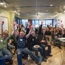 The Go Code Colorado crew, photo by Allison Daniell of Stellar Propeller Studio