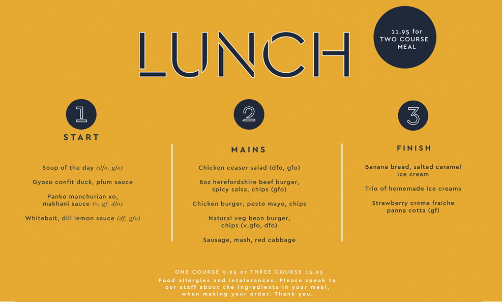 Lunchtime Special Offers, Group Lunches and Small Functions