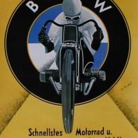 BMW Motorrad vintage posters.