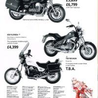 1991 Moto Guzzi range.